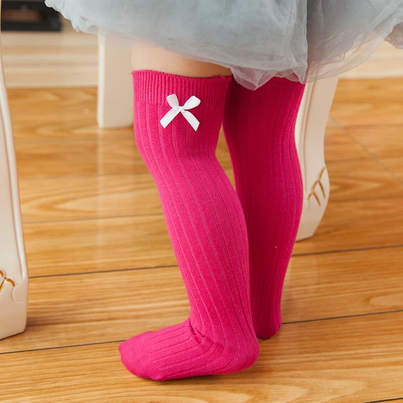 Newborn Baby Socks Solid Color Baby Girl Boy Socks Infant Toddler Knee High Sock