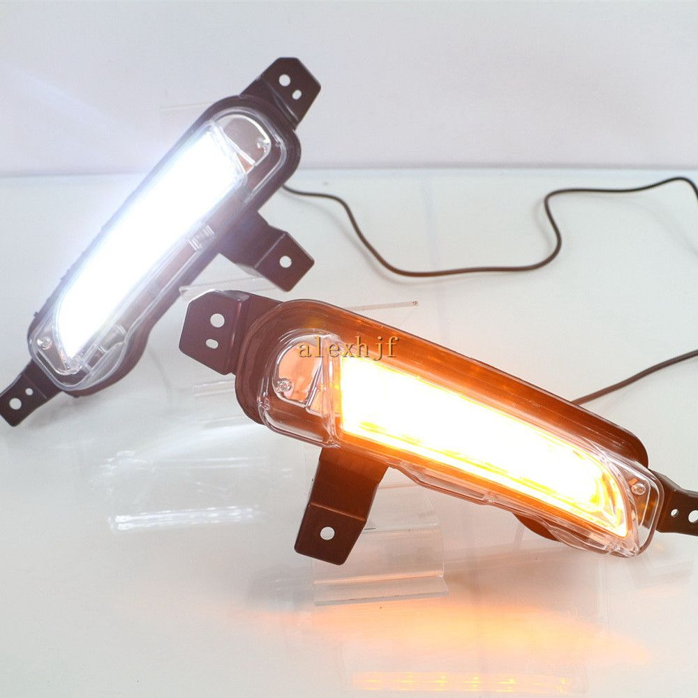 July King Led Daytime Running Lights Drl With Yellow Turn Signal
