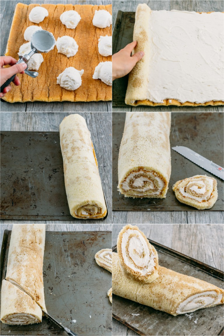 Tiramisu Yule Log Cake - NatashasKitchen.com
