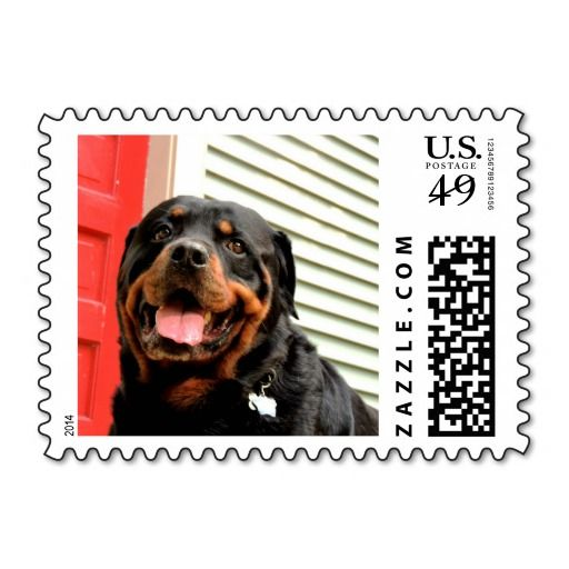 Rottweiler Love Stamps #zazzle #postage #dogs #rottweiler #love
