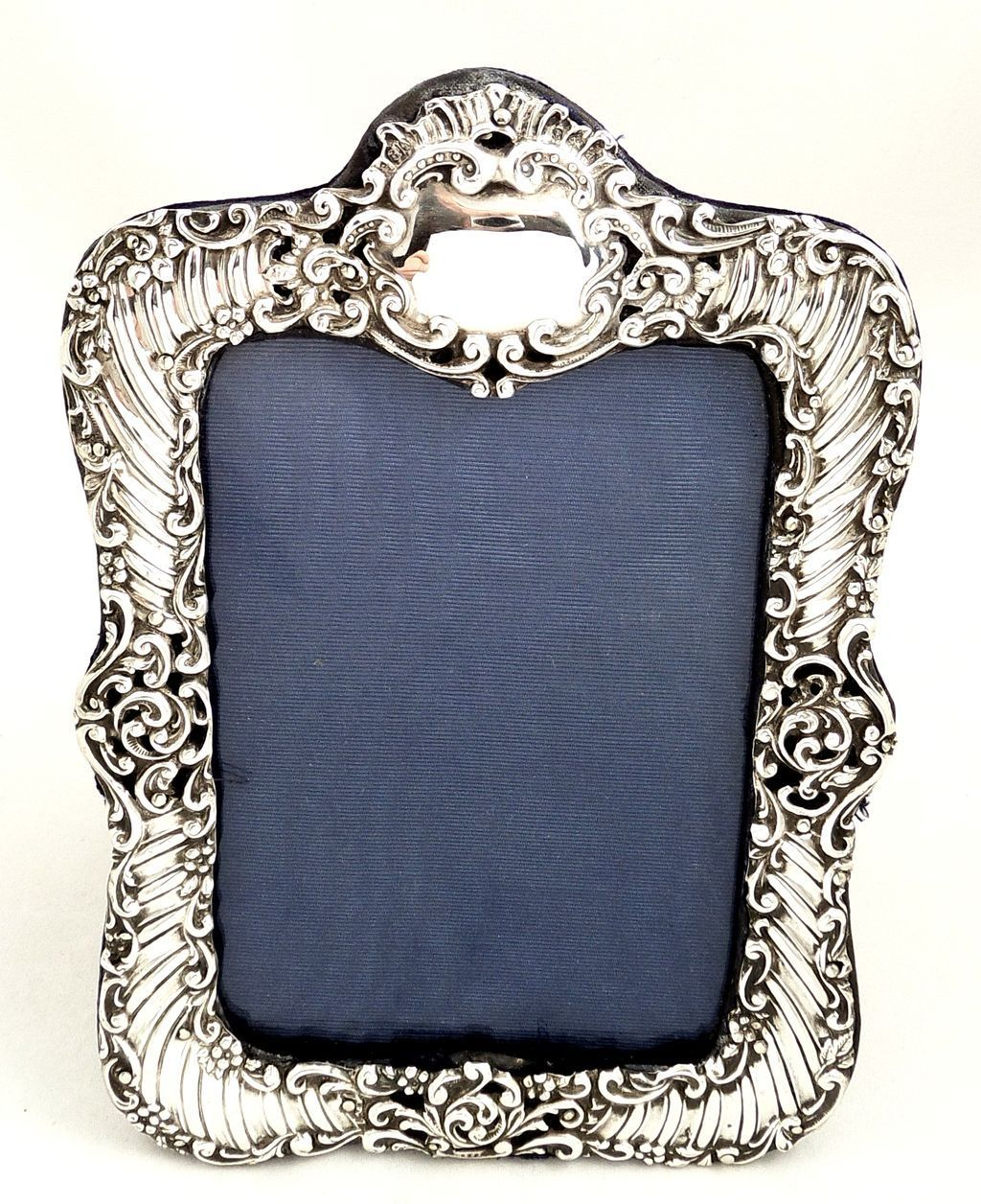 Antique Victorian Sterling Silver Photo Frame 1900 Silver Bells