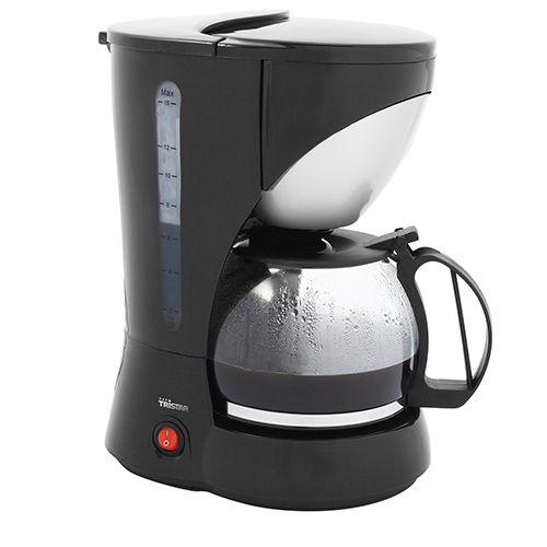 Cafetera Eléctrica | Tristar KZ1208. Práctica cafetera con capacidad para 1.5 L. Adecuada para 12 a 15 tazas de café por sesión. Equipada con un tanque de agua transparente e indicador de nivel de agua.