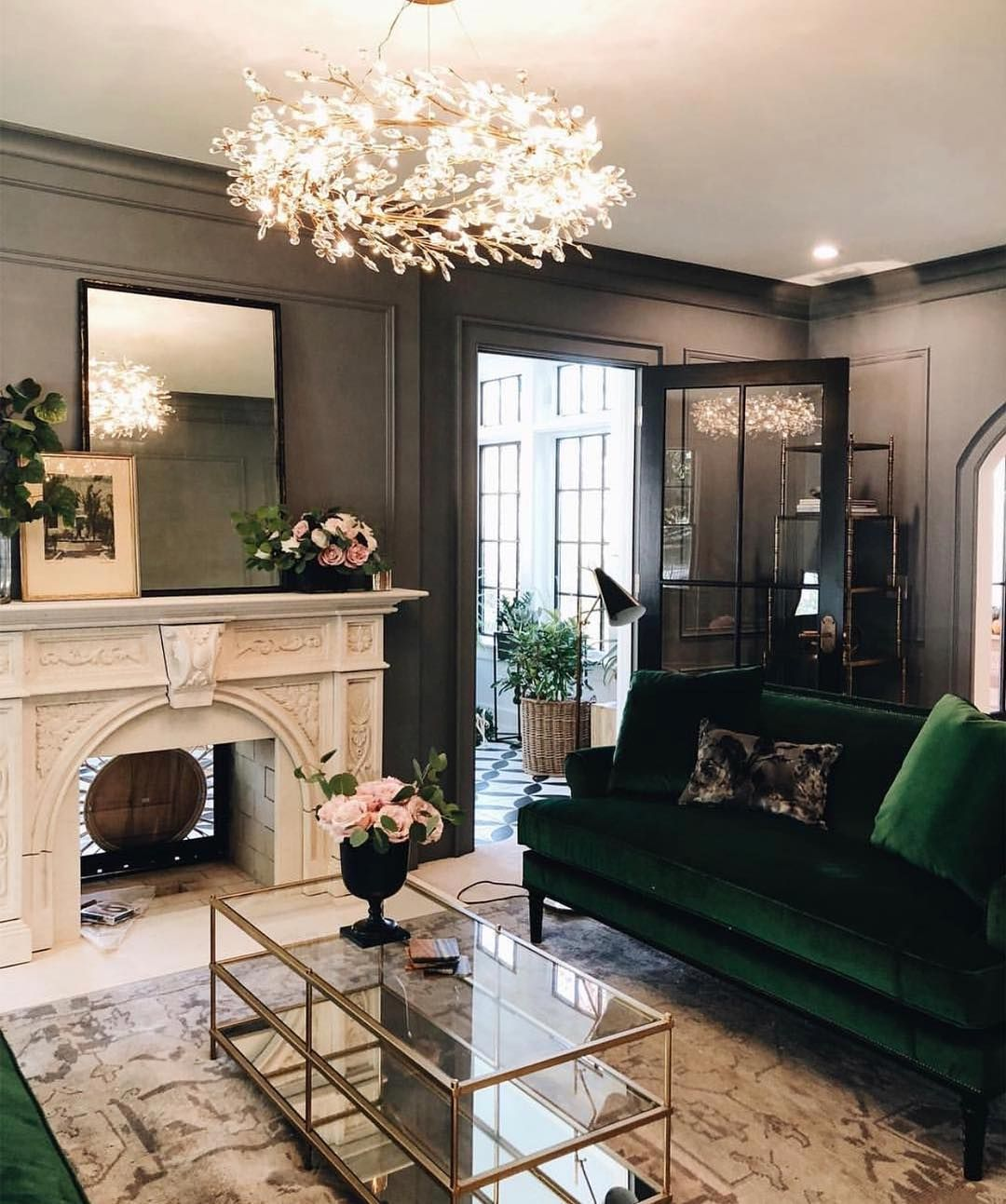 """27 Luxury Living Room Ideas Pictures Of Beautiful Rooms: @luxury_interiors11 On Instagram: """"A Touch Of Green 🥑"""