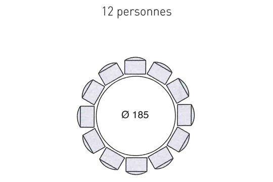 Cuisine Ou Salle à Manger Quel Espace Prévoir Pour Une Table - Table ronde extensible 12 personnes pour idees de deco de cuisine