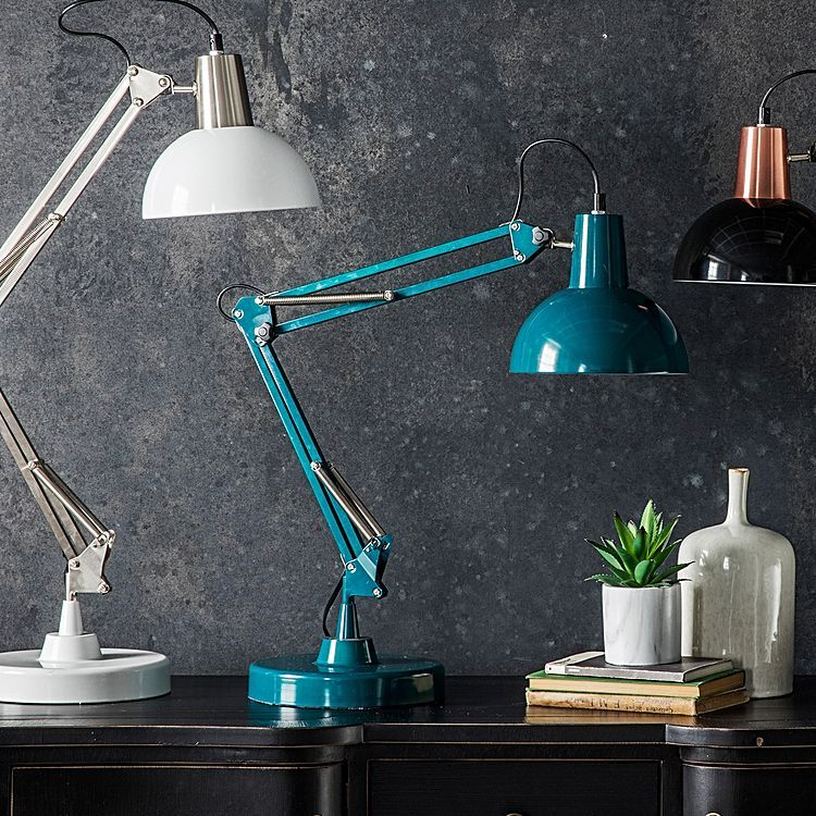 Winona Table Lamp Teal By Castle Road Interiors Zanui In 2020 Teal Table Lamps Retro Desk Lamp Desk Lamp
