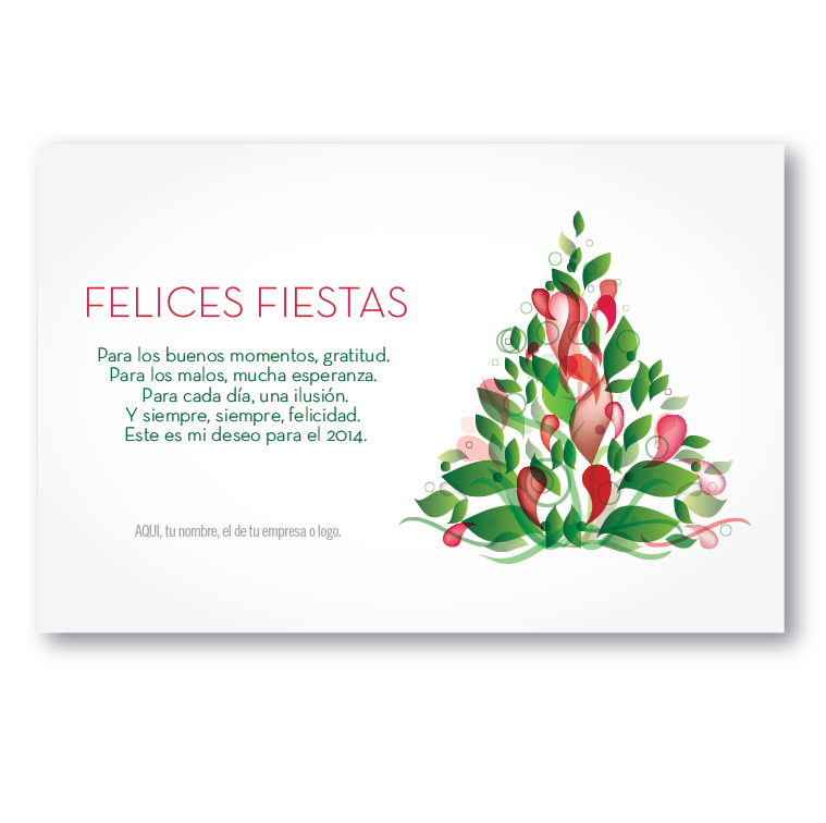 Arbol deseos tarjetas para navidad y fin de a o - Deseos para la navidad ...