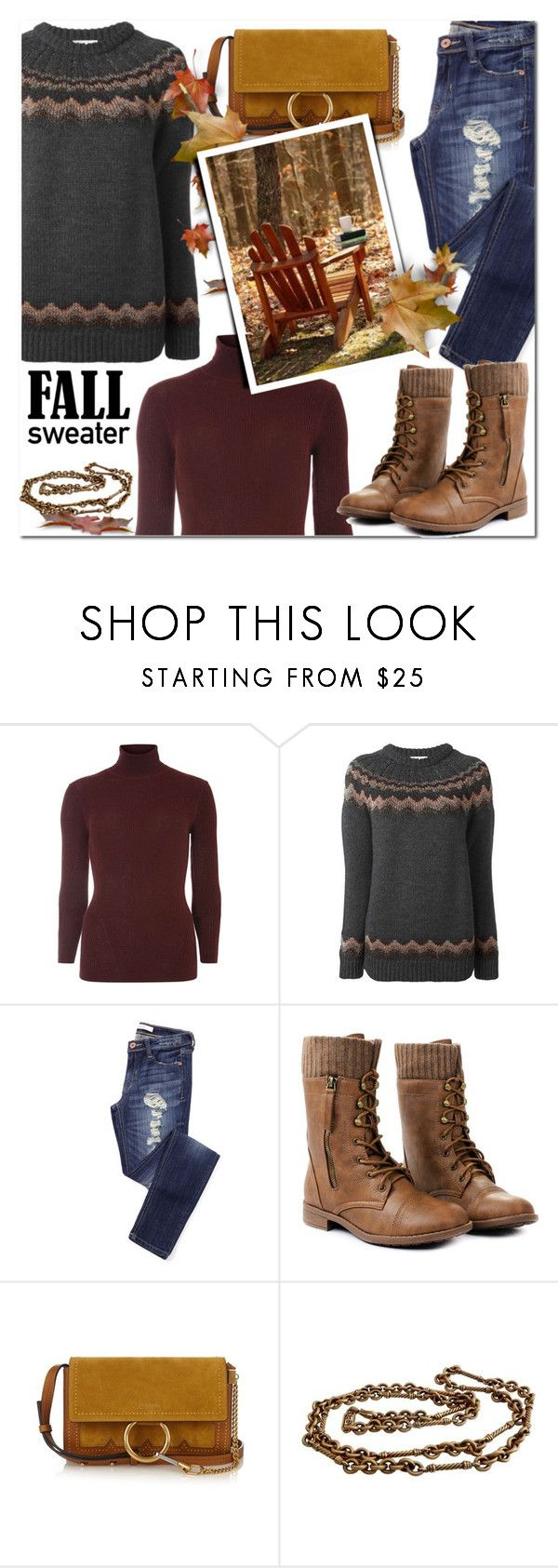 """Cozy Fall Sweaters"" by tinayar ❤ liked on Polyvore featuring Dorothy Perkins, RED Valentino, Chloé and Yves Saint Laurent"