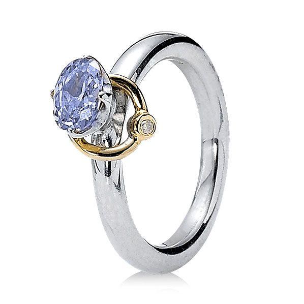 Pandora Reminder With Lavender Cz 14k Ring Retired Limited Quantities Pandora Rings Pandora Rings Silver Pandora Jewelry