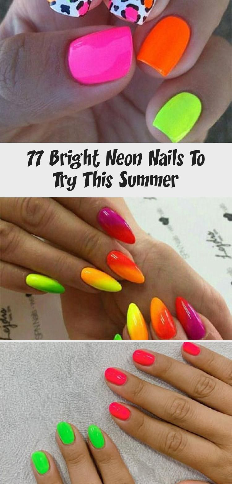 Hair Styles 2020 Best Hair Styles Ideas In 2020 Neon Nails Neon Nail Colors Summer Nails 2018