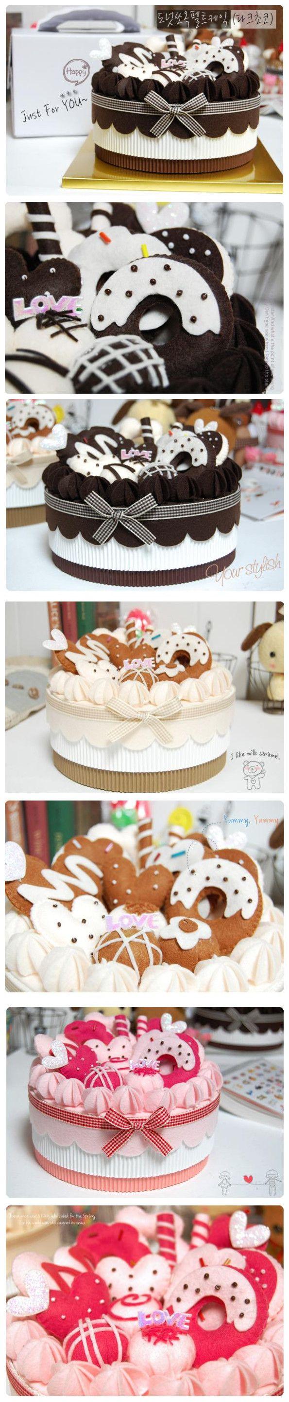 Bolo de feltro felt cakes