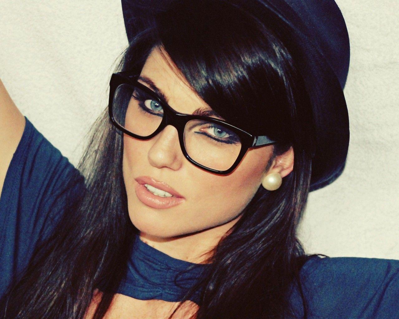 black frame glasses