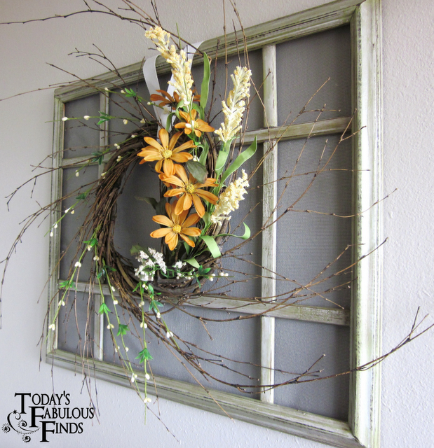 9084f0645e Faux window...use an old picture frame and some crossbars (Home Depot Lowes)  and decorate!