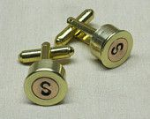 Shotgun Shell Cufflinks Winchester 20 Gauge Nickel Silver - Wedding Gifts for Groomsmen