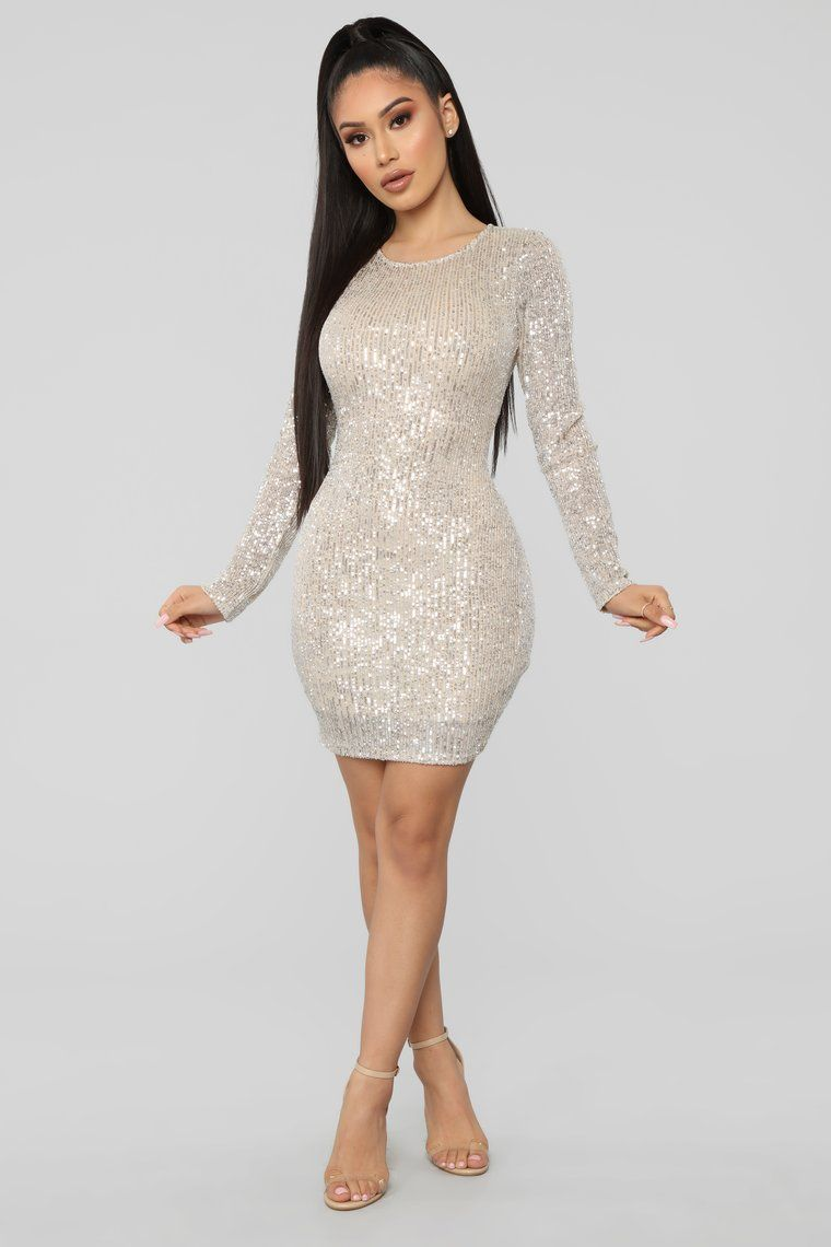 Fashion Nova Dresses   Shine Like The Night Sequin Dress