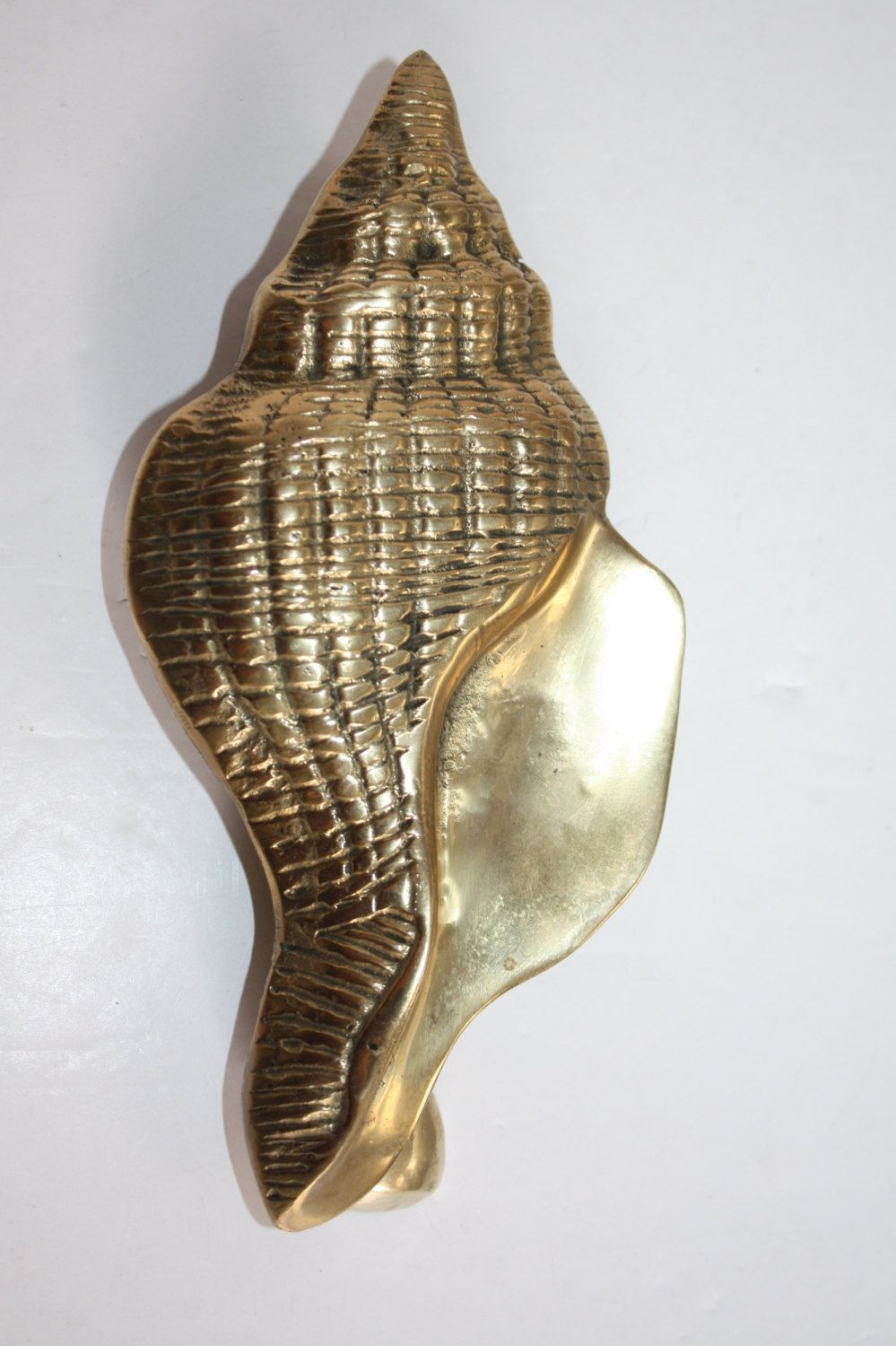Vintage Brass Seashell Door Knocker/Brass Conch Shell Door Knocker/Solid  Brass Door Knocker