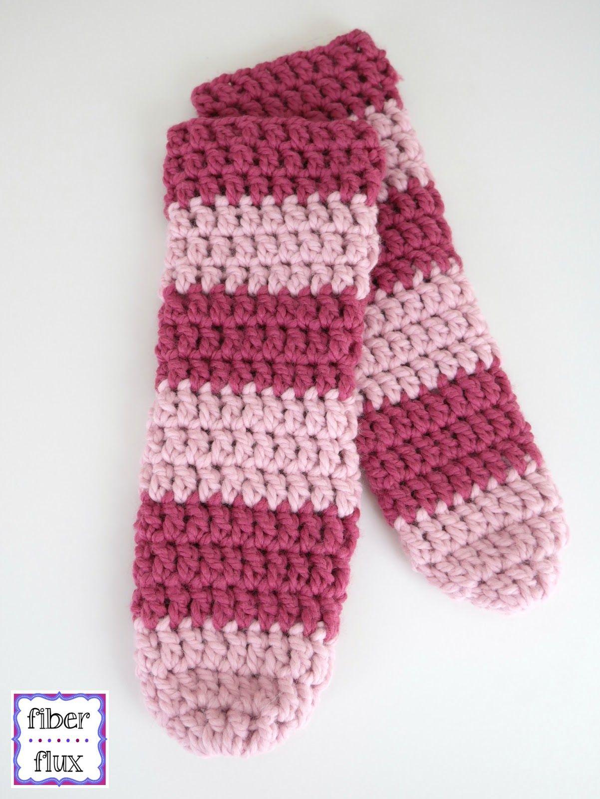 Free Crochet Pattern...Strawberry Blossom Slipper Socks! | Tube ...