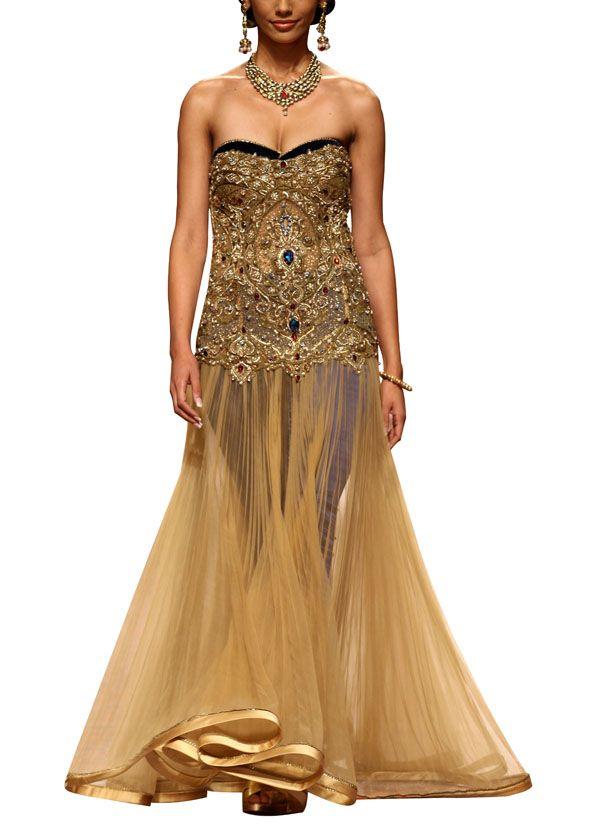 Gorgeous Corset Gown | My Vogue | Pinterest | Indian fashion ...