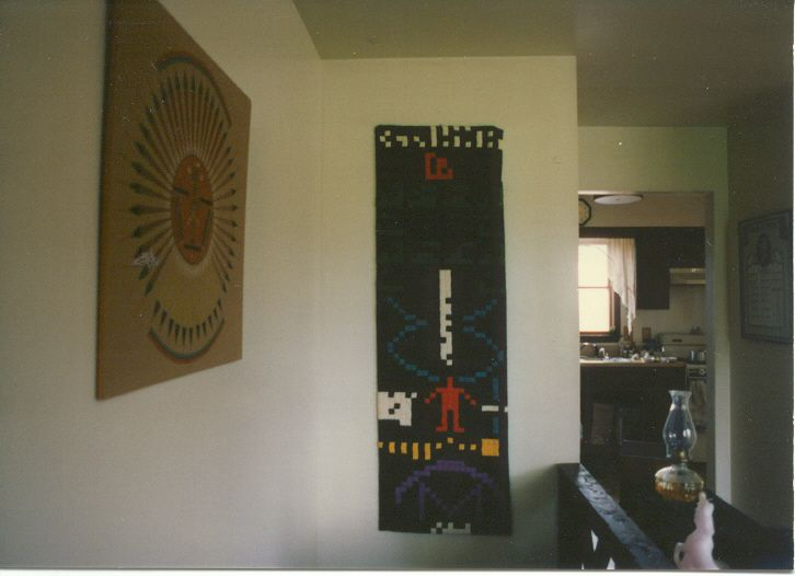 Seti Message in needlepoint  1989