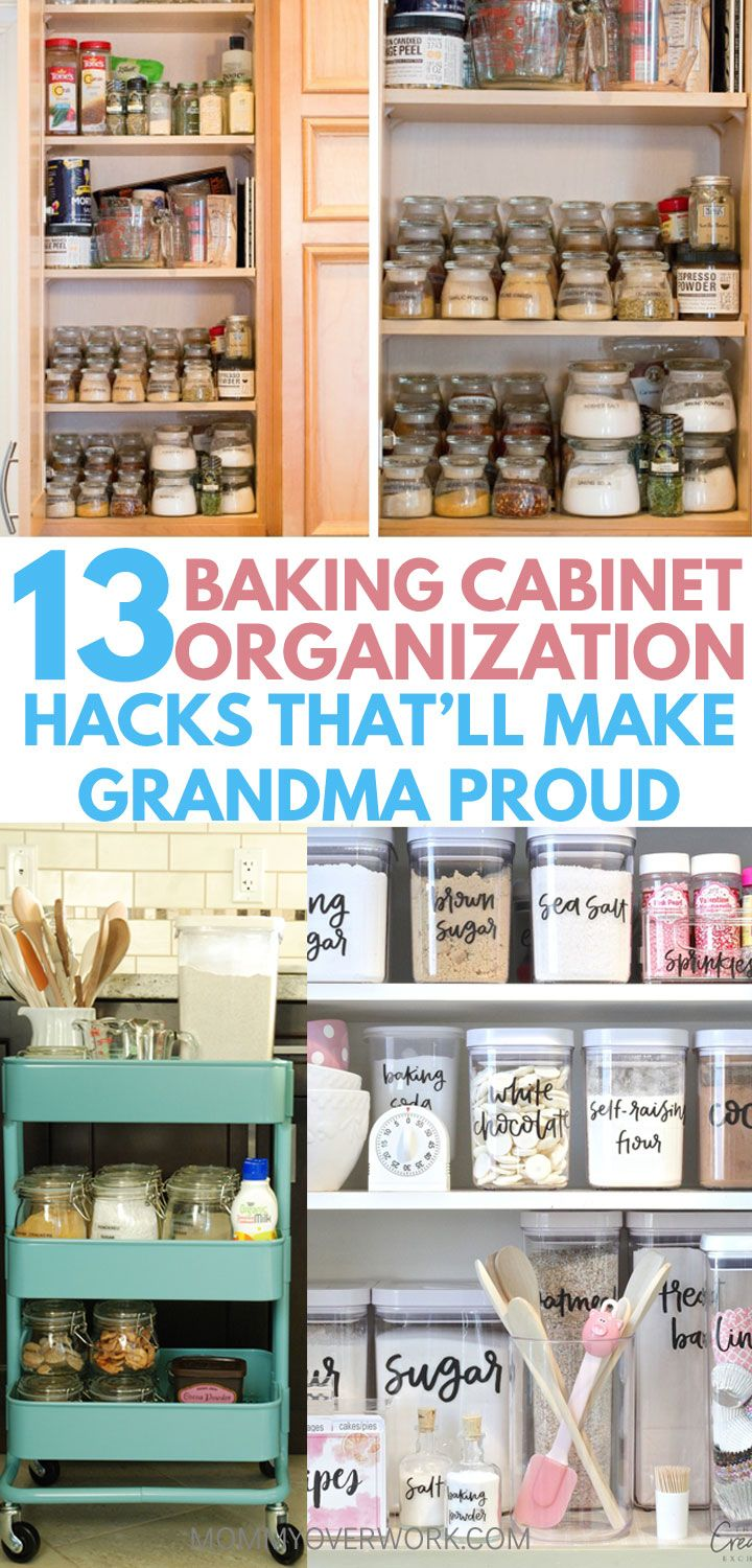 13 Easy Hacks And Storage Ideas To Organize Your Baking Center Kitchen Cabinet Drawers Supplies Simple Diy