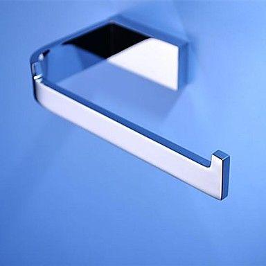 Modern Slat Toilet / Tissue Paper Holder, Brass Chrome Finish Bathroom Accessory – USD $ 27.99