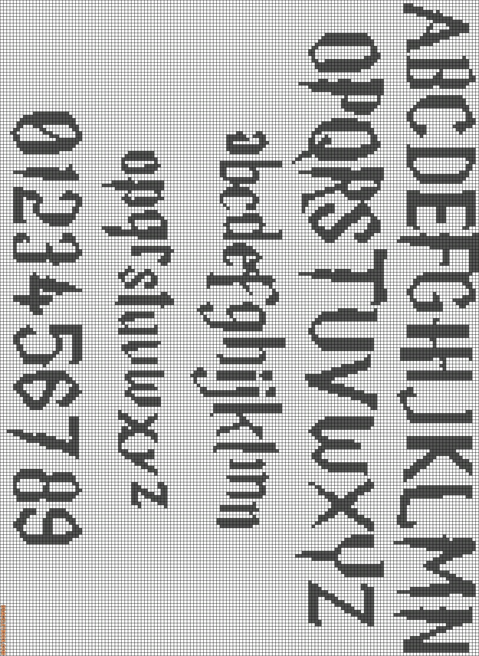I think this is useful to have pinned for future designs. | X-stitch ...
