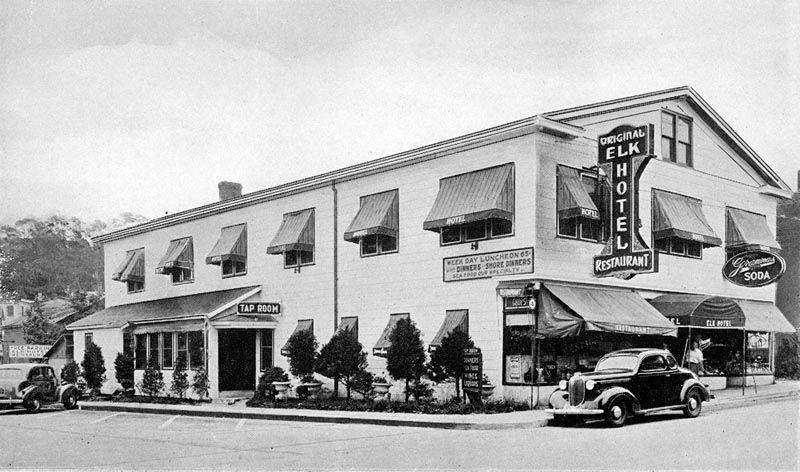 Elk Hotel And Restaurant Port Jefferson Ny Vintage