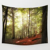 Wall Tapestries featuring Magic Forest by Jenndalyn