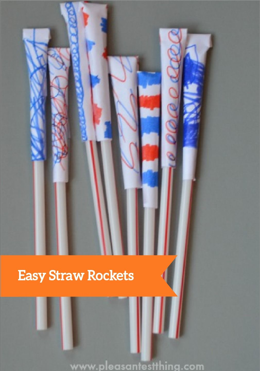 This fun, easy project is perfect for kids stuck inside on a rainy day. They will love launching these straw rockets across the house—and you will love that nothing gets damaged!