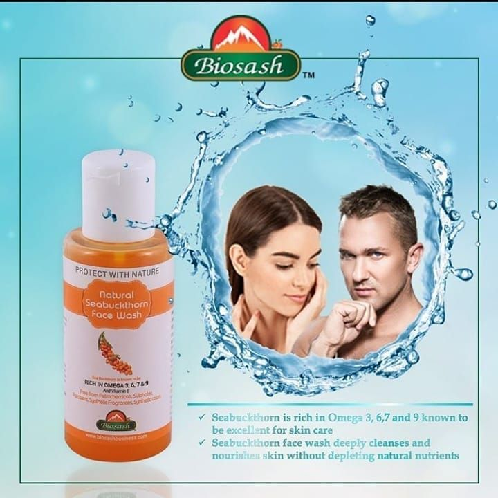 Protect your skin with natural Seabuckthorn Face wash, which is enriched with Omega 3,6,7 and 9. it deeply cleanses and nourishes skin without depleting natural nutrients.  @naturalhealthu  @naturalhealthu  @naturalhealthu • • • • #seabuckthorn #facewash #naturawash #naturalskincareproducts #biosash #omega #biosashproduct #skincare #skinwash