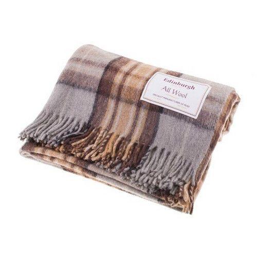 Scottish 100 Wool Tartan Check Plaid Blankets Rug Throws Traditional Patterns