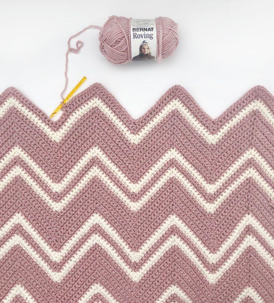 Crochet Pink Chevron Throw   Crochet   Pinterest   Tejido