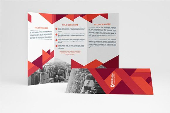 elegant business trifold by assaiv on creativemarket brochure