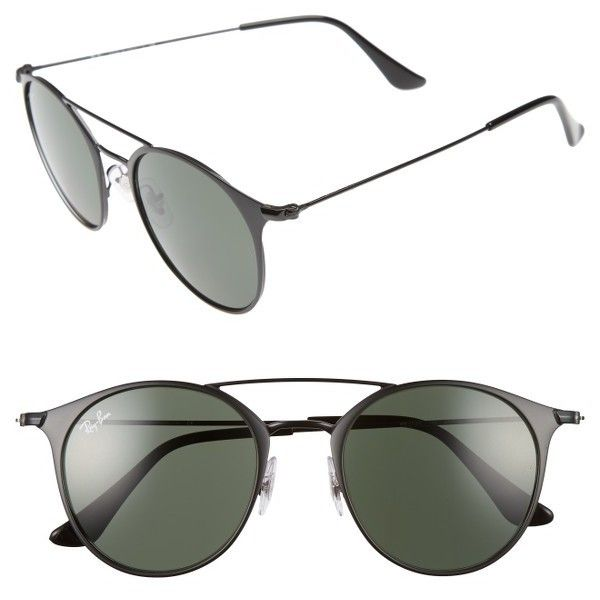 Men's Ray-Ban Phantos 49Mm Sunglasses ($160) ❤ liked on Polyvore featuring men's fashion, men's accessories, men's eyewear, men's sunglasses, mens eyewear, mens vintage eyewear, mens sunglasses, mens vintage sunglasses and ray ban mens sunglasses
