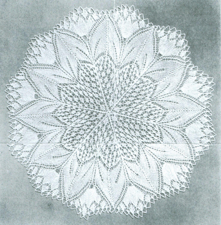 Beautiful Shawl 3 Doilies Knitting Pattern Oak Leaf by dianeh5091 ...