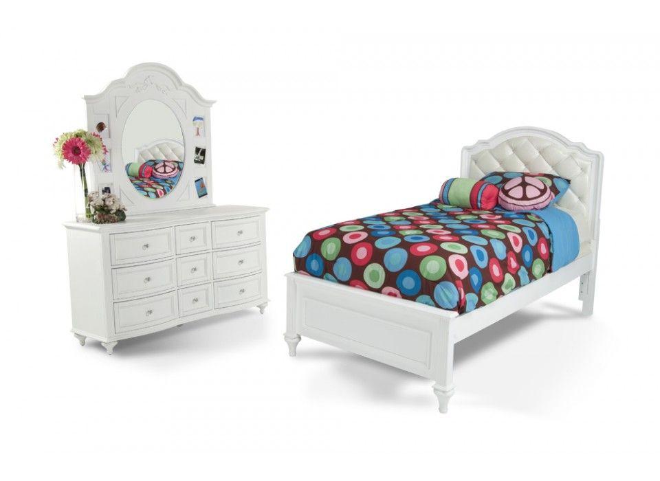 Madelyn 6 Piece Upholstered Full Youth Bedroom Set | Kids Bedroom Sets |  Kids Furniture |