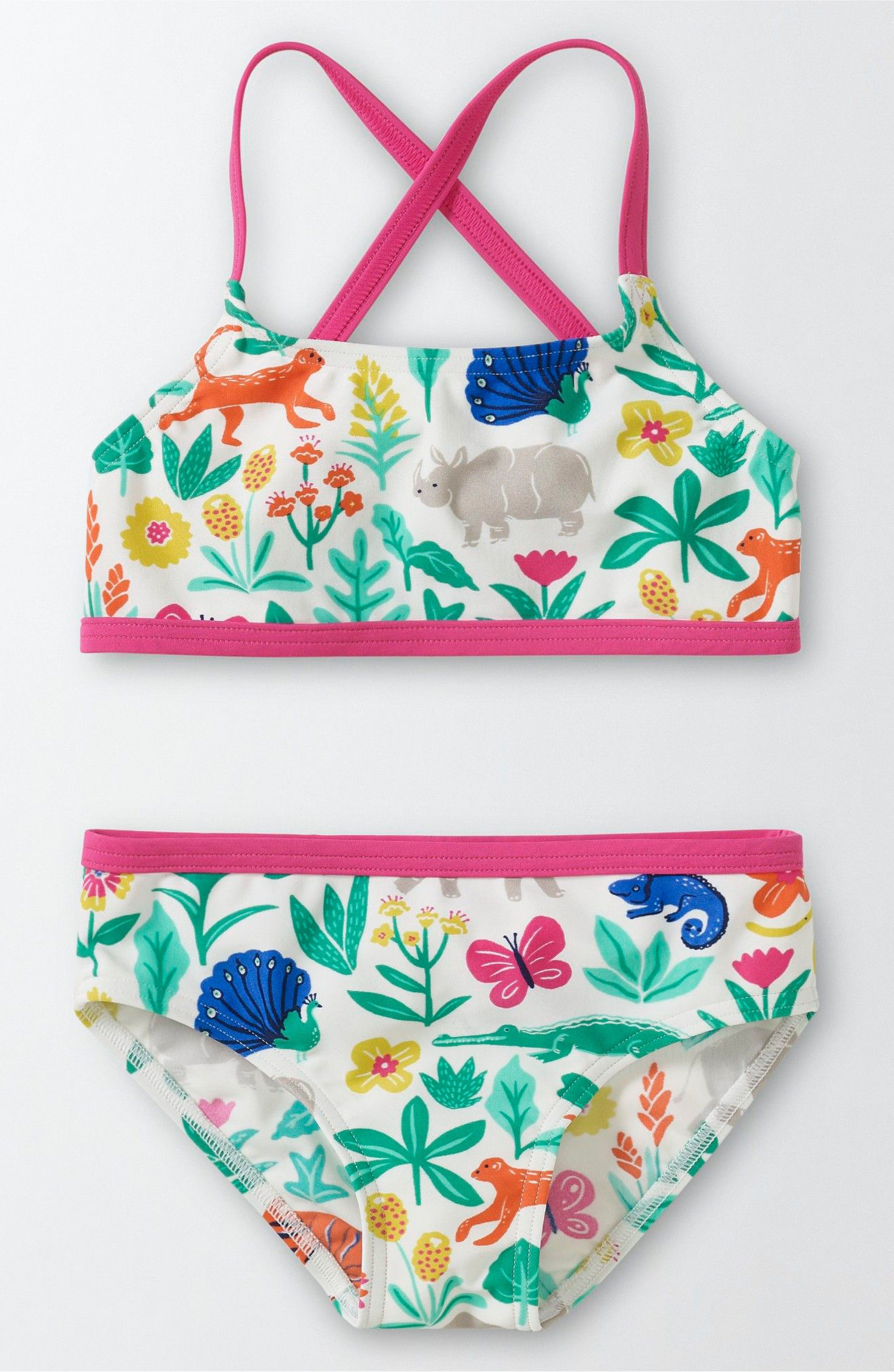 4b28356c Main Image - Mini Boden Into the Sea Two-Piece Swimsuit (Toddler Girls,  Little Girls & Big Girls)