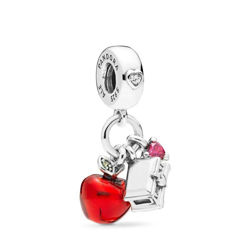 Green Dangle Cz Heart Bead 925 Sterling Silver Charm