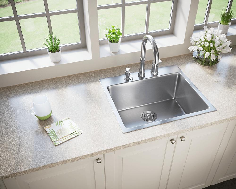 T1823 Topmount Stainless Steel 3 4 Radius Sink In 2020 Stainless Steel Apron Sink Apron Sink Kitchen Apron Sink