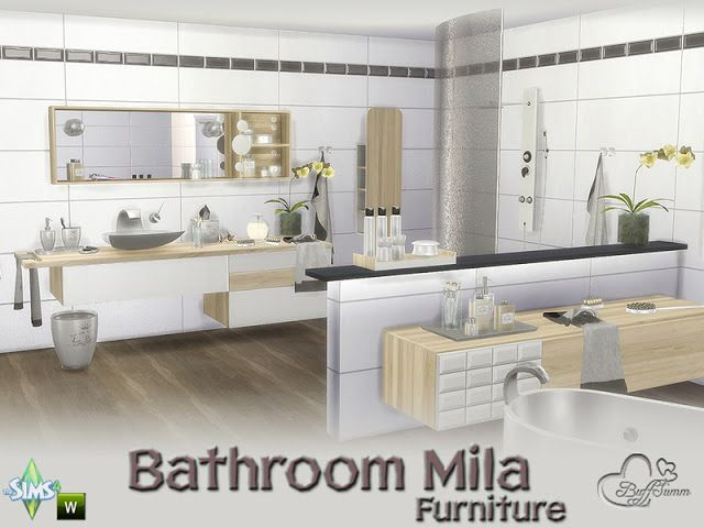 Sims 4 CC\'s - The Best: Bathroom Mila by BuffSumm | The sims ...
