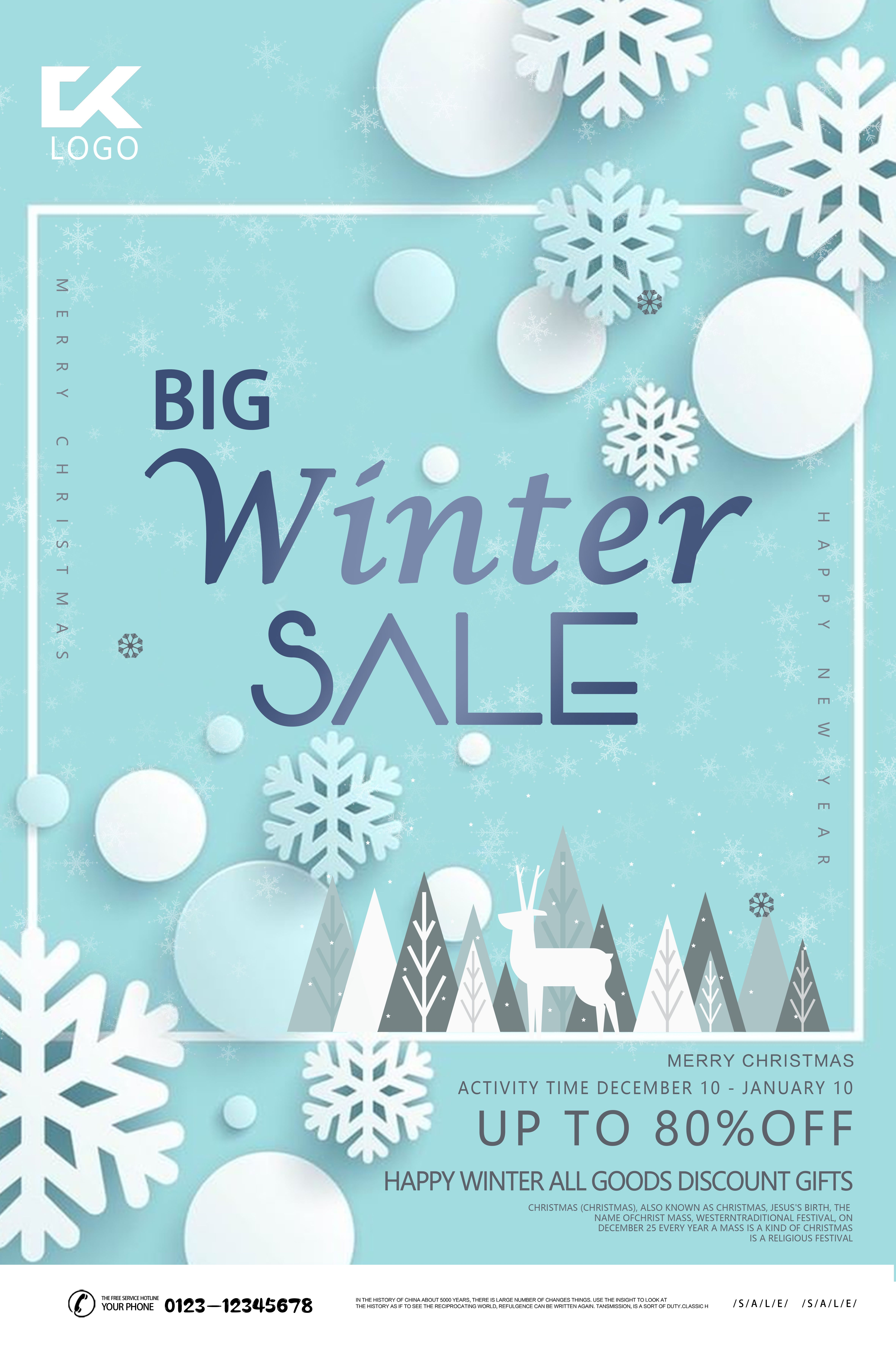 Blue Winter Promotion Discount Offer Sales Promotion Poster Template Psd Free Download Pikbest Invitation Card Format Flyer Design Templates Wedding Invitation Card Template