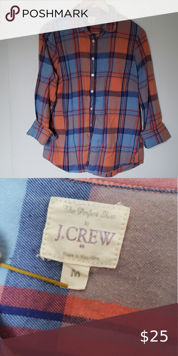 JCrew flannel, very soft, size medium