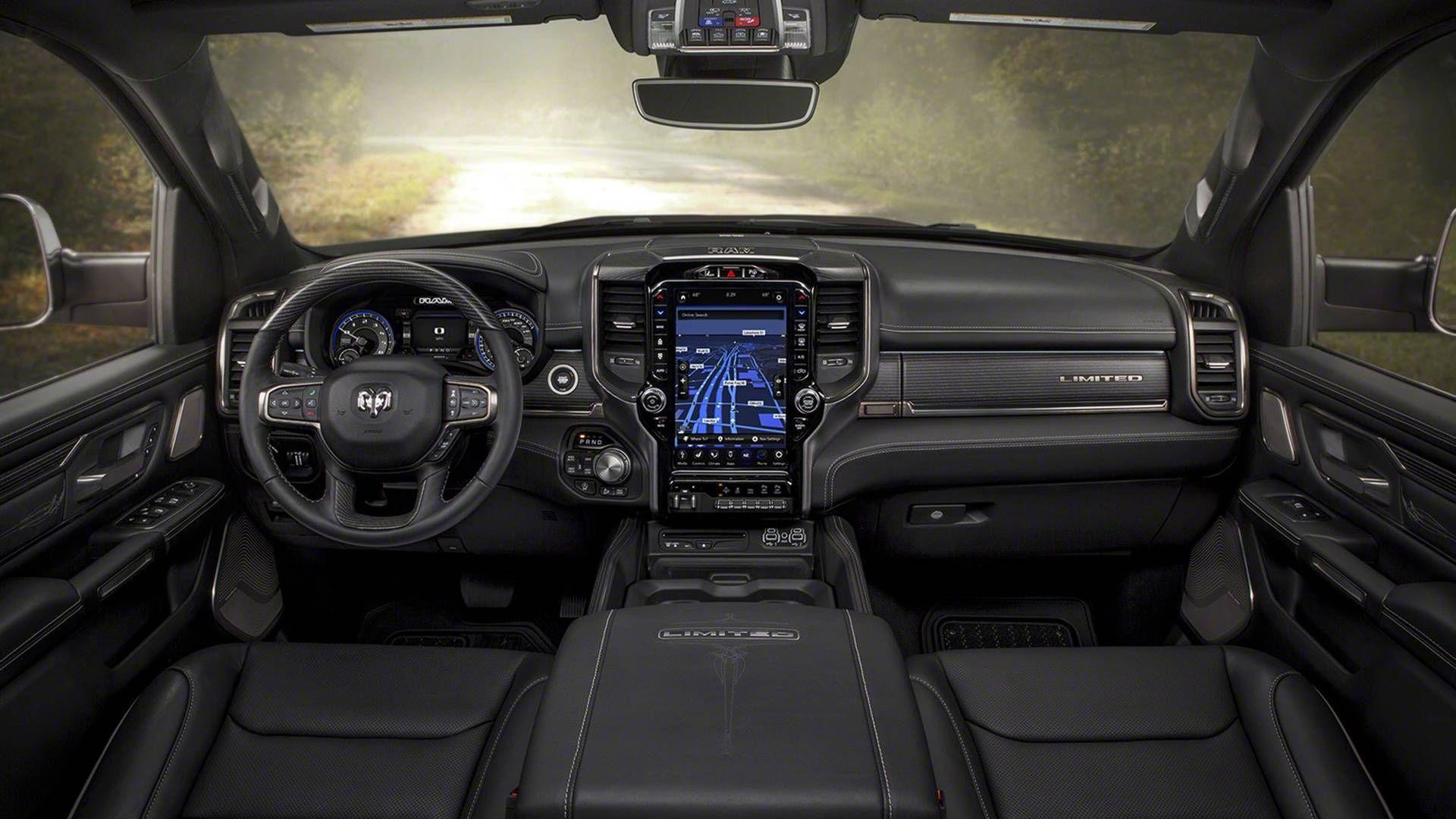 Ram 1500 Chega Ao Brasil No Segundo Semestre De 2019 Com Motor V6 A Diesel Dodge Ram 2500 Interior Do Caminhao Dodge Ram 1500