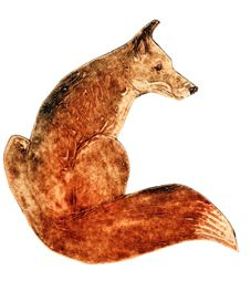 Fox collagraph by Kerry Buck