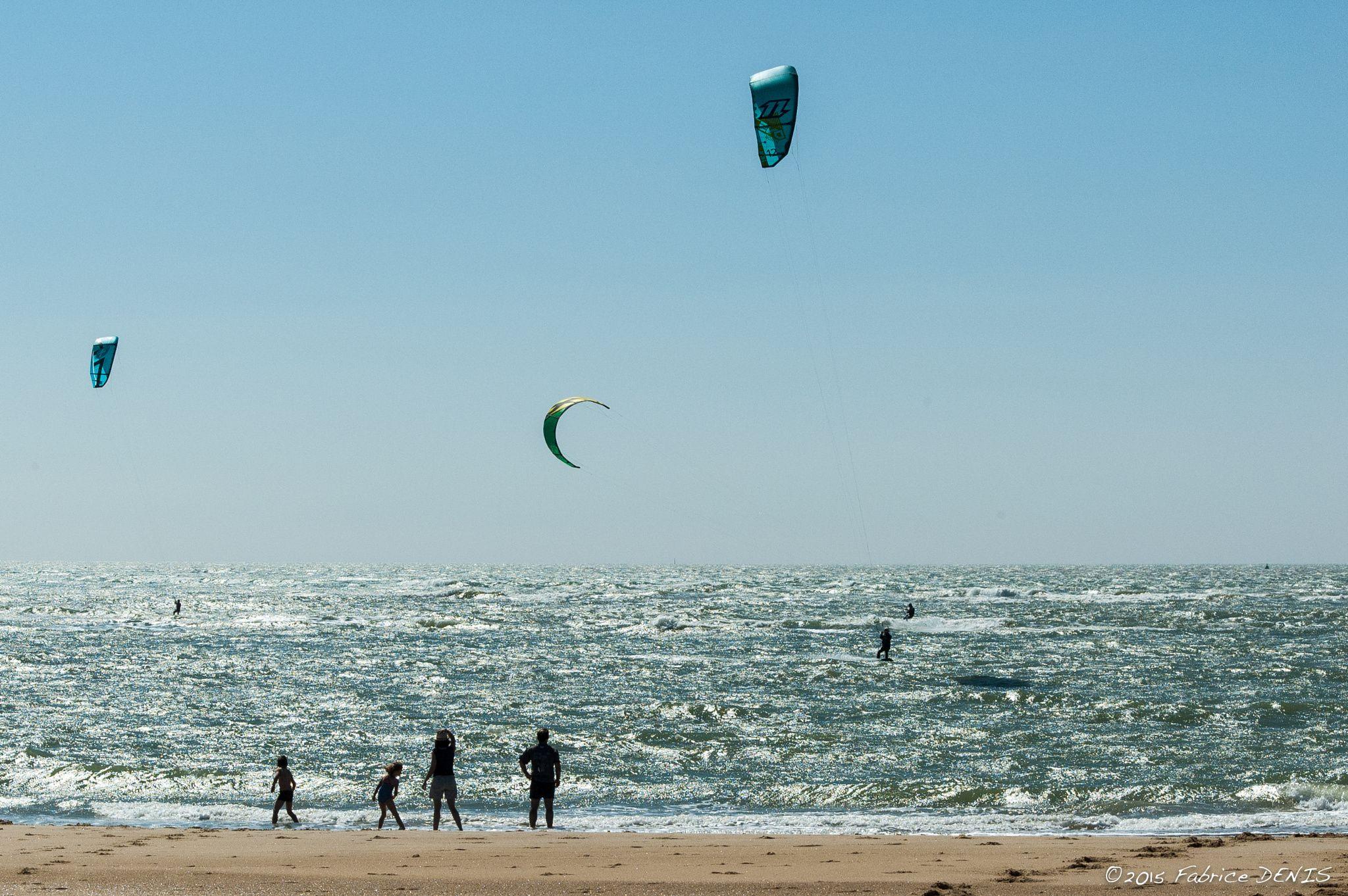 Kitesurf by Fabrice DENIS on 500px Côte Sauvage - Plage de la Pointe Espagnole