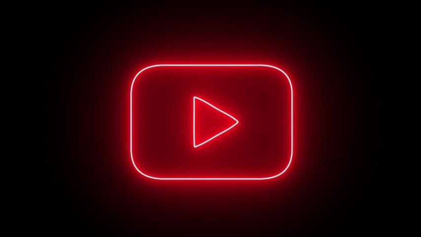 Izmir Turkey - 16.08.2019: Neon Stock Footage Vide