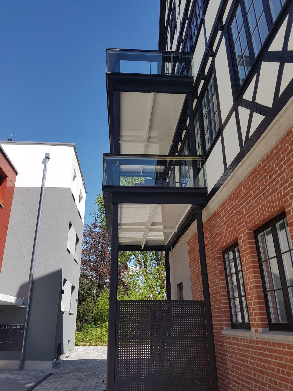 Balkonanbau am Fachwerkhaus Balkon bauen