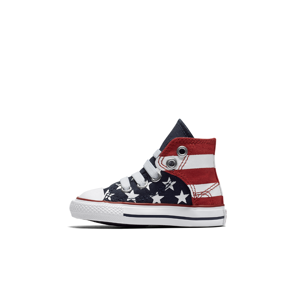 75978abcb244bb Converse Chuck Taylor All Star American Flag High Top Infant Toddler  Slip-On Shoe Size 10C (Blue)