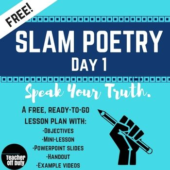 Unsure how to introduce slam poetry to your students? Nervous that - lesson plan objectives