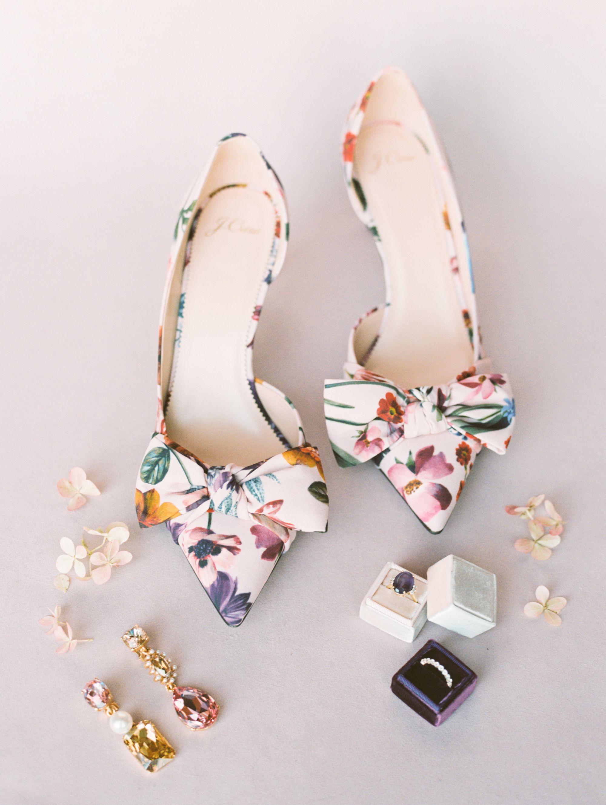 Colorful Floral Wedding Shoes For Bride Floral Wedding Shoe Wedding Shoes Bride Shoes