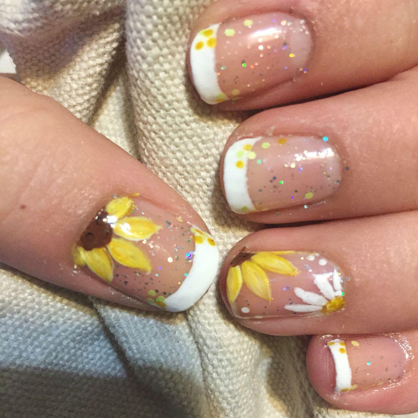 Sunflowers Nails U De Flores Para Boda Diseos